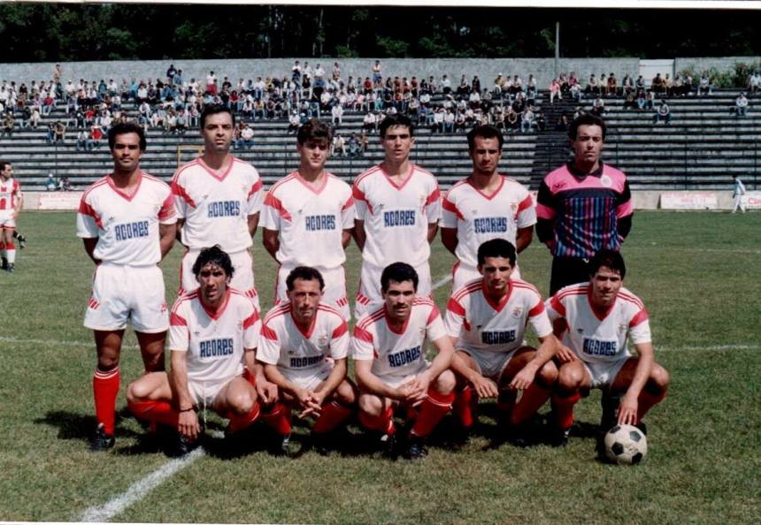 Estádio de S. Miguel | Equipa treinada por Armando Fontes